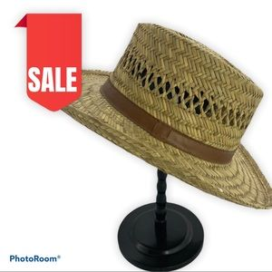🍒2 for $20 Straw Boater Hat Size Large